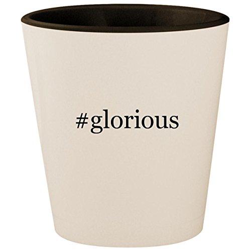 #glorious - Hashtag White Outer & Black Inner Ceramic 1.5oz Shot Glass