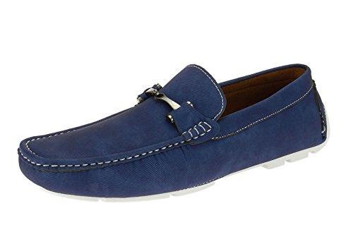 Salvatore Exte Men's Shoe Monaco Slip-On Loafer (12 D(M) US, Navy)