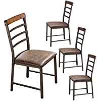 O&K Furniture Industrial Metal Restaurant Chairs, Ladder...