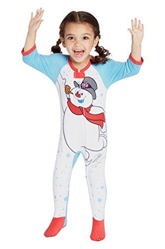 Frosty The Snowman Infant 'Frosty The Snowman Skates' Onesie Footie Sleeper, White, 18MO