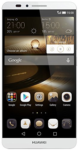 Huawei Ascend Mate 7 Smartphone (6 Zoll (15,2 cm) Touch-Display, 16 GB Speicher, Android 4.4) silber