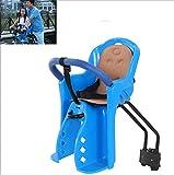 WSBBQ Child Bike Seat, Bike Saddle,Portable, Foldable & Ultralight Front Mount Baby Kids' Bicycle Carrier Handrail Mountain Bikes,Blue