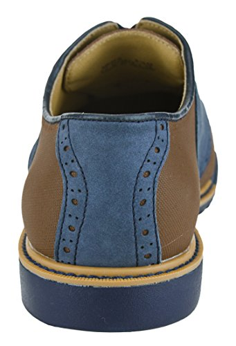Cole Haan Mens Great Jones Saddle II Shoes Sequoia-india Ink Suede e1S7C