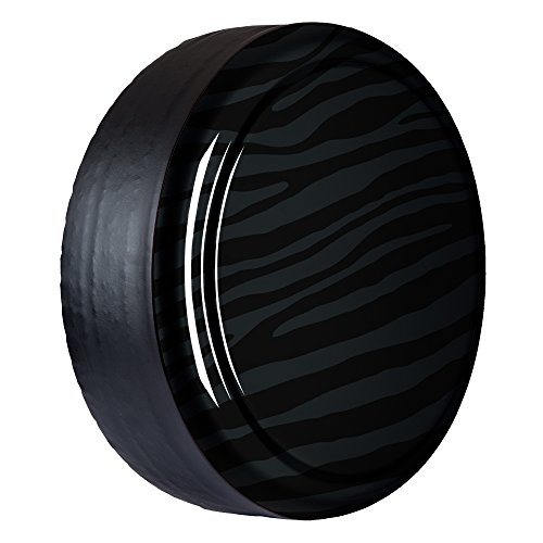 32'' Zebra Print - Color Matched Rigid Tire Cover (Plastic Face & Vinyl Band) - Jeep Wrangler (JK) - Rhino by Boomerang (Image #2)