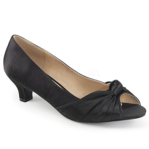 Pleaser Vrouwen Fab422 / Bsa Slide Pump Blk Satijn
