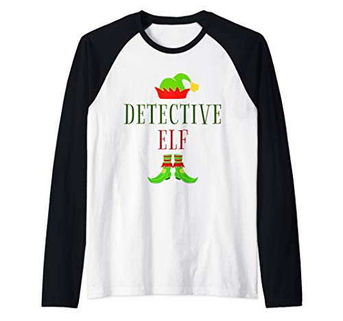 Detective Costume Ideas (Detective Elf Costume Funny Christmas Xmas Holiday Matching Raglan Baseball)