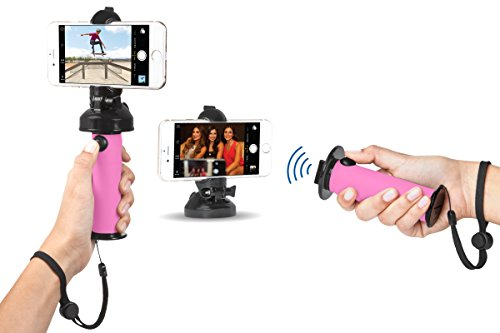 Grip Dat Selfie Photos | 3 in 1 Ultimate Selfie Stick for Photography | Capture Life Easier with Bluetooth Remote Ideal for iPhone, Galaxy, Android, Nokia, GoPro | Mountable, Waterproof