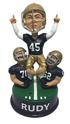 Rudy Ruettiger Notre Dame Fightin Irish Talking Celebration Bobblehead NCAA