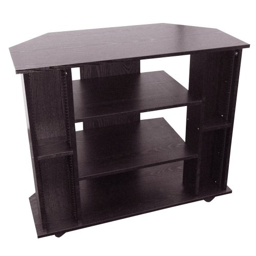 ORE International R556BK Corner TV Stand Black