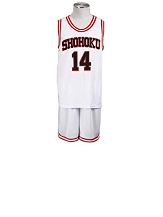 5478404bd Mtxc Men s Slam Dunk Cosplay Hisashi Mitsui Shohoku High School Basketball  Jersey  14 Kid Size