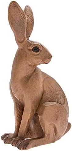 Lesser /& Pavey Animal Kingdom Sitting Hare Wood Effect Sculpture Ornament