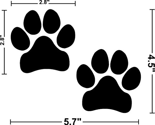 I Make Decals - Paw Prints, BLACK, Pawprints, FBA, Prime, Paws, Dog, Puppy, Vinyl, Sticker, Decal, Label, Placard, BLACK