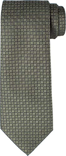 KissTies Mens Olive Green Tie Solid Necktie Wedding Ties + Gift Box (Olive Green Tie)
