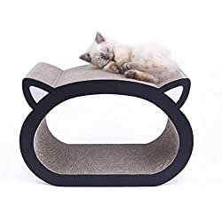 MushroomCat Cat Face Ultimate Scratcher Lounge Bed