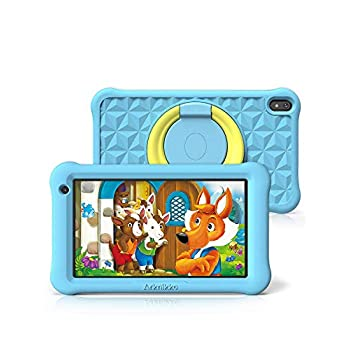 Arknikko SophPadX11 Youngsters Pill, 7 inch IPS HD Show, GMS Android 10 Quad-Core, 2GB RAM 32GB ROM, Kidoz Pre-Put in & Mum or dad Management, Twin Cameras, Child-Proof Case, Display screen Protector (Blue)