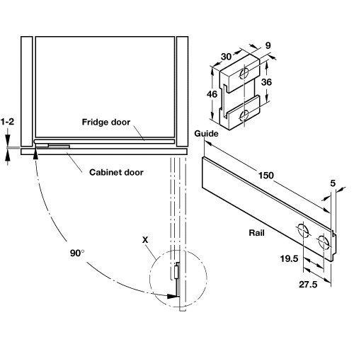 INTEGRATED APPLIANCE FRIDGE DOOR SLIDE FIXING KITCHEN UNIT DOOR (SUKI):  Amazon.co.uk: Kitchen U0026 Home