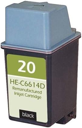 Replacement for HP C6614D MG Re-Manufactured Inkjet Cartridges 20; Models Deskjet 610; Black Ink RC6614