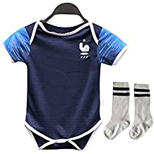 Yohuiya Baby Jersey for 6-18 Month Baby 2018 World Cup Shirt Argentina Spain Mexico Colombia Baby Shirt Romper + Socks