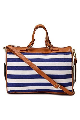 Kleio Mini Duffle Cotton Canvas Overnight Weekender Travel Carryon Shopping Crossbody Purse Handbag For Ladies - Duffle Mini Embroidered
