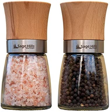 Wood Salt Pepper Grinder Set