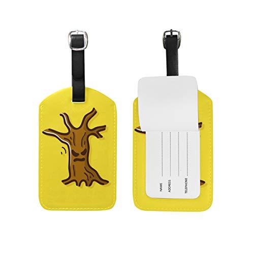 FAJRO Halloween Scary Tree luggage tag business card Travel ID Bag Tag ()