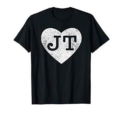 I love JT heart funny JT vintage gift t-shirt