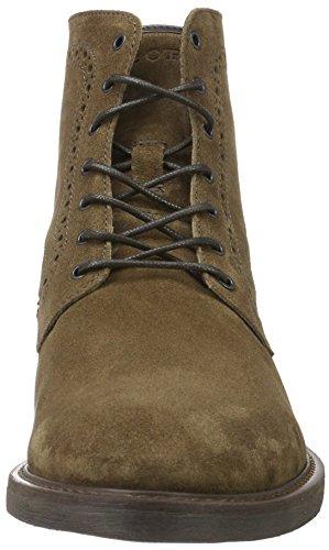 Marc O'Polo Lace Flatheel Bootie, Chukka Boots Homme Marron - Braun (Tabacco 780)