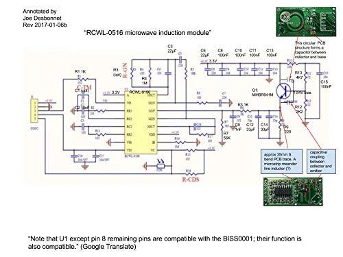 Switch Module RCWL-0516 Motion Detection Sensor for Arduino ESP8266 Nodemcu Wemos for Human Rat Cat Detector Microwave Radar Sensor Detection Distance 5-7m DIYmall for Raspberry PI
