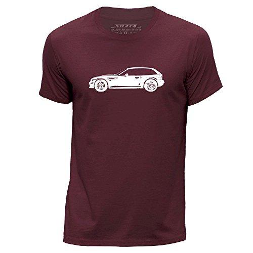 STUFF4 Uomo/XXX Grande (3XL)/Borgogna/Girocollo T-Shirt/Stampino Auto Arte / Z3 M E36/8