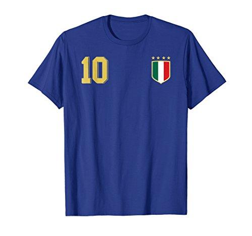 Retro Italy Soccer Jersey Italia Football T-Shirt Calcio - Soccer T-shirt Italia