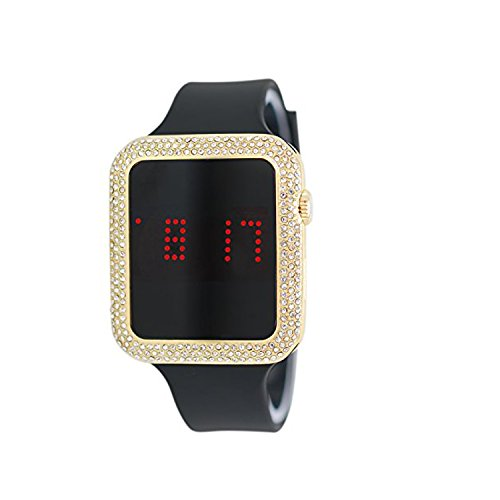 watches techno pave silicon band - 5