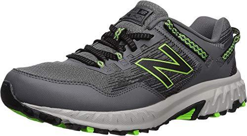 New Balance Men's 410v6 Cushioning Trail Running Shoe, Castlerock/Black/RGB Green, 11 D US