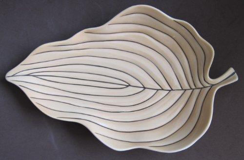 Carlton Ware Hand Painted Leaf Design SERVING DISH (England Australian Design Circa 1950's?)