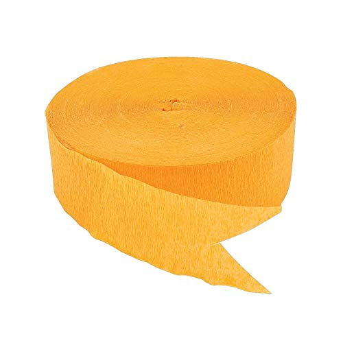 Yellow Jumbo Streamers (500 Ft.) by Fun Express