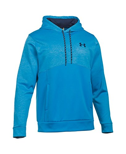 Under Armour Men's Storm Armour Fleece Twist Hoodie, Brilliant Blue/Midnight Navy, Large by Under Armour (Image #3)