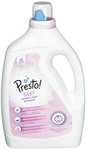 Marca Amazon - Presto! Detergente líquido bebé, 176 lavados (4 ...