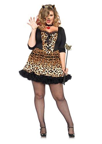 4 PC. Ladies Wildcat Dress - 1XL/2XL - Leopard