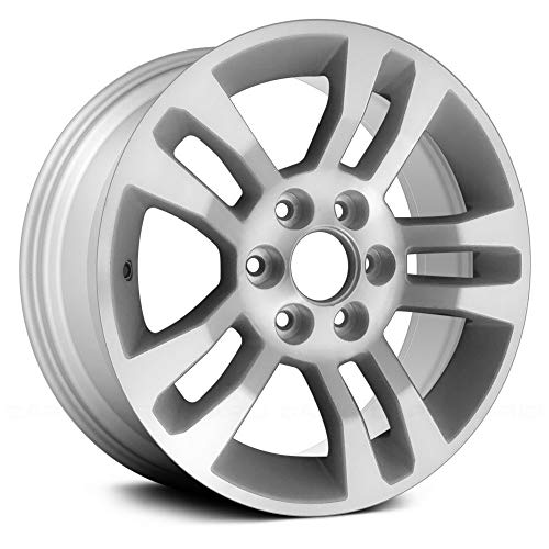 (Replacement 18X8.5 Alloy Wheel Machined and Silver 5 Double Spoke Fits Chevy Silverado 1500)