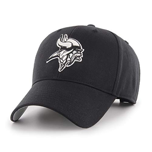 OTS NFL Minnesota Vikings All-Star Adjustable Hat, Black & White, One Size