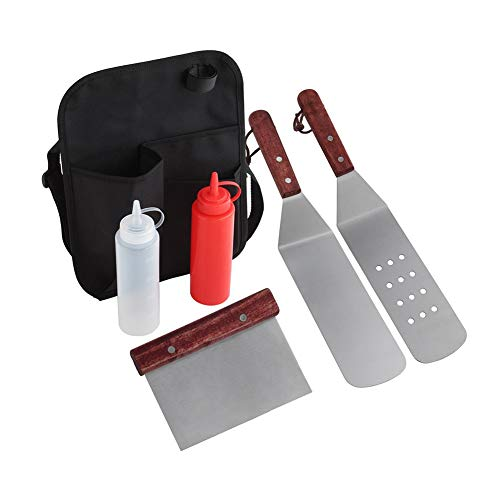 QEES BBQ Tools Belt Bag Barbecue Utensils Kit Waist Pack, Grill Tool Set Knife Bag for Meat Claws, Condiment Bottles, Meat Injector (Not Include Tools) YB15