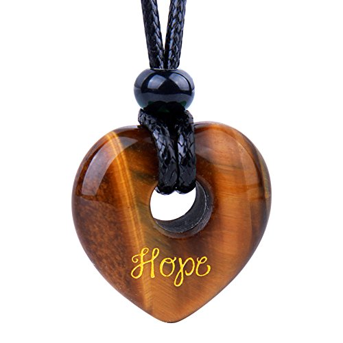 (Magic Inspirational Lucky Heart Donut Charm Hope and Love Powers Tiger Eye)