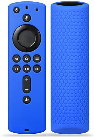 Silicone Remote Case Cover for Fir TV Stick 4K / Fir TV Cube/Fir TV (third Gen), SYMOTOP Shockproof Anti Slip Silicone Remote Case Compatible with All-New 2d Gen Alexa Voice Remote Control- Dark Blue