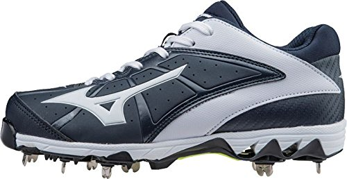 Mizuno Frauen 9 Spike Swift 4 Fast Pitch Metall Softball Cleat Marine-weiß