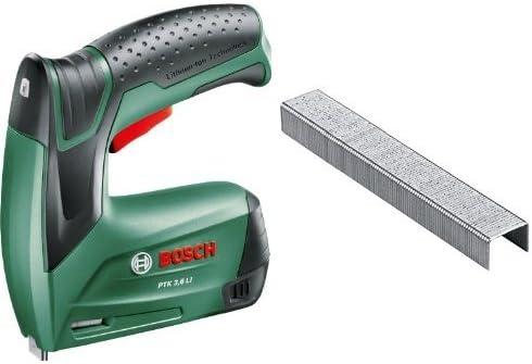 Bosch - PTK 3,6 LI – Grapadora + 2 609 255 820 - Grapa o 53 (pack de 1000): Amazon.es: Bricolaje y herramientas