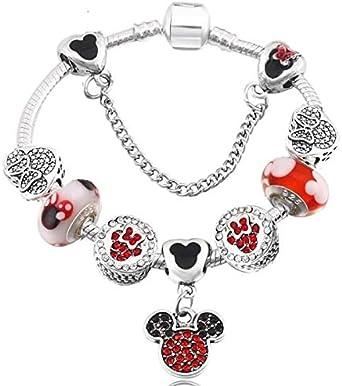 Disney Style Pandora Charm Bracelet with Swarovski Crystal* Silver ...