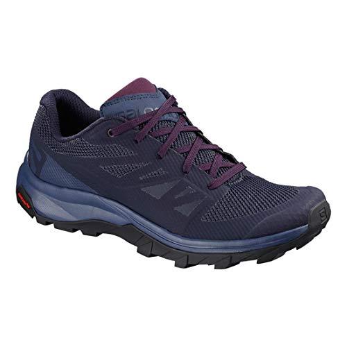 Blue Salomon Shoes Potent Blue Outline Crown Purple Evening Hiking Women's 66r0nqga