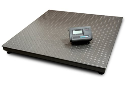 Saga Floor Scale 48X48 6600 LBS Capacity Manufactory Calibrated with Professional Indicator Brand New Pallet Shipping Scale