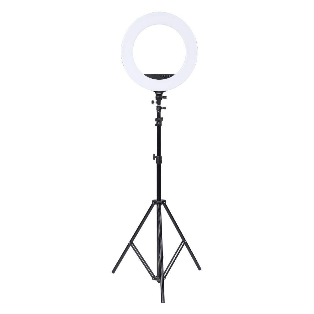 fosa Selfie Ring Light Mini 480LED Ring Shape Cell Pone Fill Light with Cell Phone Clip Portable Strap Carrying Bag Supplement Selfie Video Lamp for Live Stream Makeup LR-980A by fosa (Image #8)