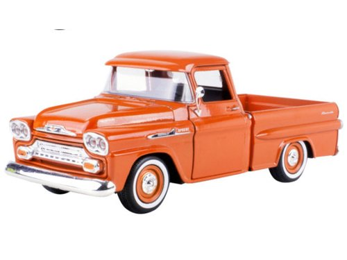 1958 Chevrolet Apache Fleetside Pickup Orange 1/24 by Motormax 79311