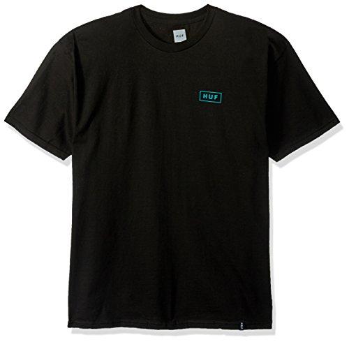 HUF Men's Bar Logo Tee, Black, Small (Bar Logo Tee)